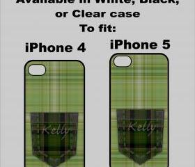 Plaid Pocket iPhone 4/4s or 5 cover 1