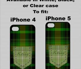Plaid Pocket iPhone 4/4s or 5 cover 2