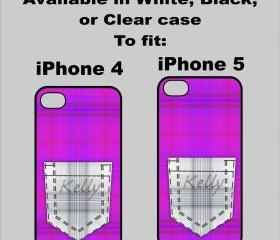 Plaid Pocket iPhone 4/4s or 5 cover 3